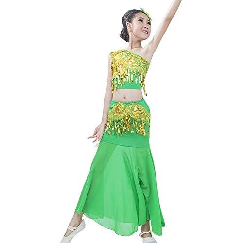 Huatime Tanzsport Bekleidung Mädchen Röcke Bauchtanz - Belly Moderner Dance Costumes Tanzkleidung Tanzkostüme Fasching Kostüme Darbietungen Kleidung ()