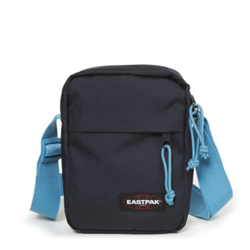 Eastpak - The One - Sac Bandoulière - Mixte Adulte -Bleu (Navy-Aqua) - 21 x 16 x 5.5