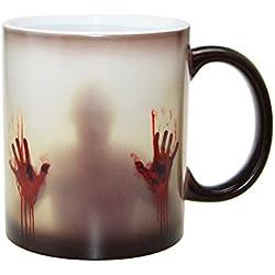handingsm cerámica calor sensible cambio de color taza, taza de Zombie–The Walking Dead Taza de café taza de té