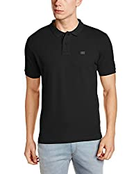 Wrangler Mens Polo (8907649211496_W2472123344C_XL_Black)