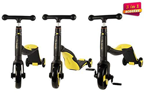 Airel Patinete 3 en 1 | Patinete de 3 Ruedas | Patinete Reversible | Scooter 3 en 1 | Correpasillos Bicicleta Niños