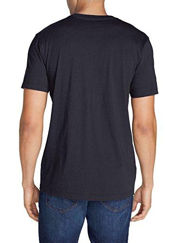 Eddie Bauer Herren Legend Wash T-Shirt-Kurzarm mit Tasche, 332249 Blau (Mitternachtsnavy)