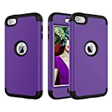 BoxTii Coque iPod Touch 6th Generation, Hybride 3 en 1 Dur Anti-Rayures PC Housse...