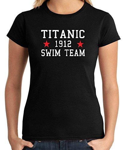 Cotton Island - T-shirt Donna TR0138 Titanic Swim Team T-Shirt, Taglia M