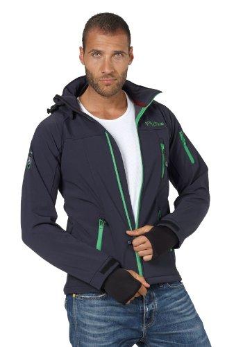 Fifty Five Herren Softshell-Jacke Outdoor-Jacken - Alert navy/green M - FIVE-TEX Membrane für Outdoor-Bekleidung