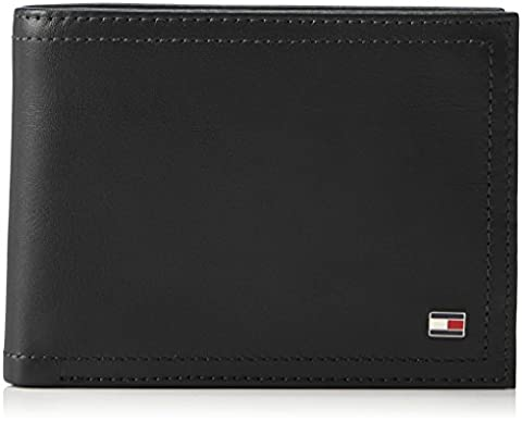 Tommy Hilfiger Harry Cc Flap And Coin Pocket, Portefeuilles homme, Schwarz (Black), 3x9.7x13 cm (B x H T)