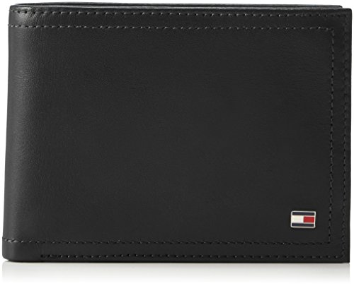 Tommy hilfiger harry cc flap and coin pocket, borse uomo, nero (black), 14x32x47 cm (w x h x l)