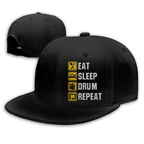 DAIAII Herren Baseball Caps,Hüte, Mützen, Classic Baseball Cap, Eat Sleep Drum Repeat Mens Womens Adjustable Plain Baseball Cap Dad Hat - Eat Sleep Drum