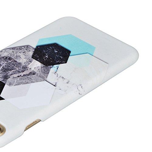 iPhone 6S Hülle,iPhone 6 Case,Sunroyal Cool Retro Kreativ Schwarz Weiß Marble Marmor Ultra Dünne Slim Hart PC Case Hülle Haut Zurück prägen Bunte Malerei Pattern Schutzhülle Cover Hart Rückseite Handy Pattern 03