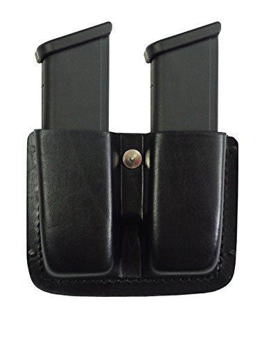 VlaMiTex M4 Magazinhalter aus Leder schwarz für Doppelreihige Magazine -