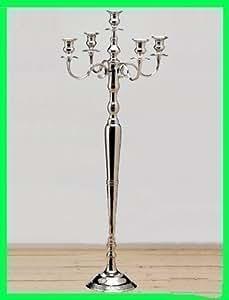 bougeoir 110cm en argent chandeliers 5 branches cuisine maison. Black Bedroom Furniture Sets. Home Design Ideas