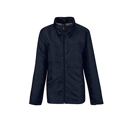 B&C Damen Multi Active Jacke mit Kapuze Dunkelgrau