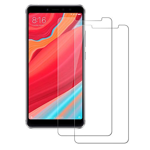 POOPHUNS Cristal Templado Xiaomi Redmi S2, 2-Unidades Protector de Pantalla Cristal Vidrio Templado Premium para Xiaomi Redmi S2 9H Vidrio Real No se despega uellas Dactilares Libre