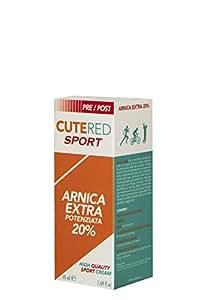 Cutered Sport Crema Arnica Extra Potenziata 20% 50ml • Defaticante Muscolare • Arnica, Olio Di Menta Piperita, Estratto Di Salice, Dimetilsolfone, Estratto Di Tè Verde