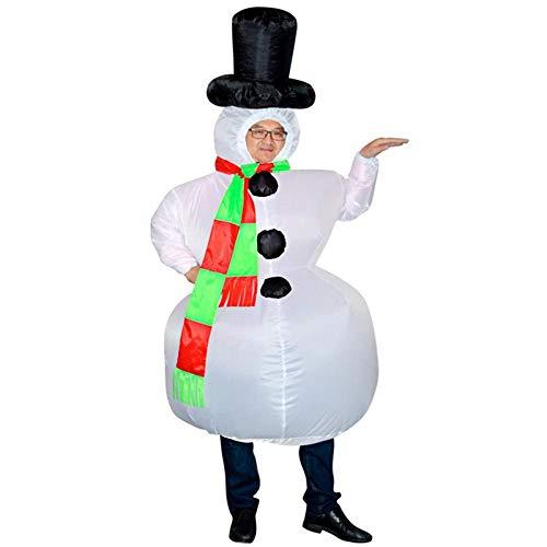 TUWEN Weihnachten KostüM Schneemann Aufblasbar KostüM Rollenspiele BüHnen-Performance KostüM Santa Aufblasbaren Anzug Aufblasbare Puppe Erwachsene MäNner Und Frauen