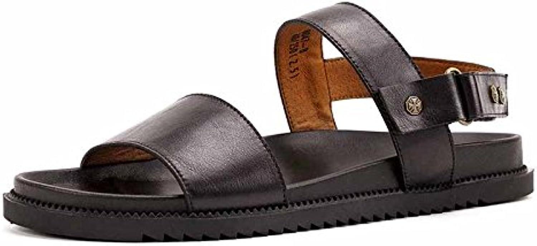 JCH Sandalias de Cuero, Sandalias de Estilo de Moda Casual Zapatillas de Cuero Genuino Zapatos Respirables de...