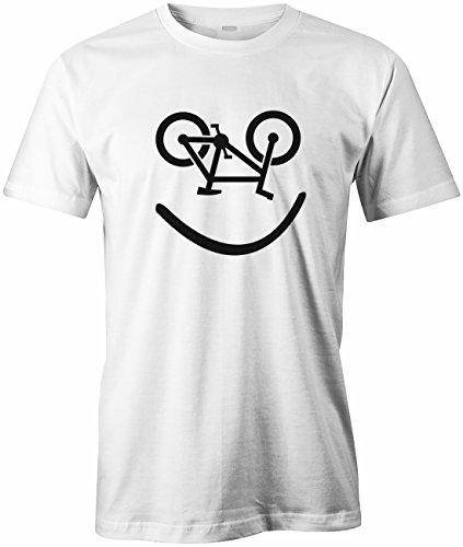 Bike Smiley - Fahrrad Hobby - HERREN T-SHIRT Weiß