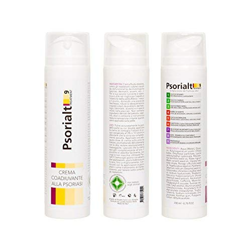 Crema - Psorialt 9 Treatment, 200 ml - efficace contro la psoriasi, eritemi, eczemi e dermatiti --> con 9 principi attivi naturali