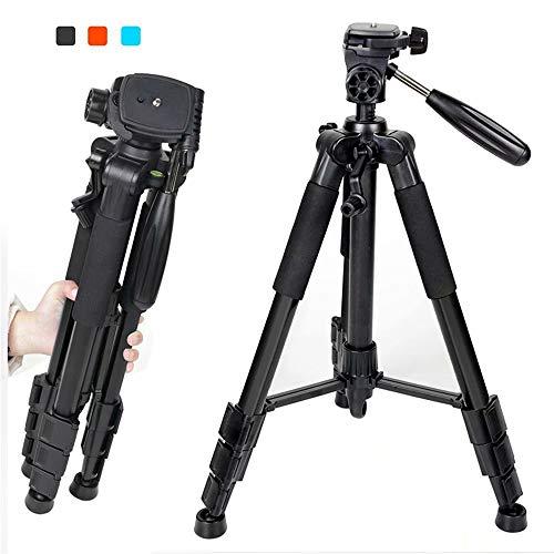 Trípode Compacto para cámara,AZX, Tripode Camara Reflex con Cabezal panorámico de 360 Grados,Plegable Portátil Trípode de cámara SLR Digital Sony Nikon de Canon,Color Negro