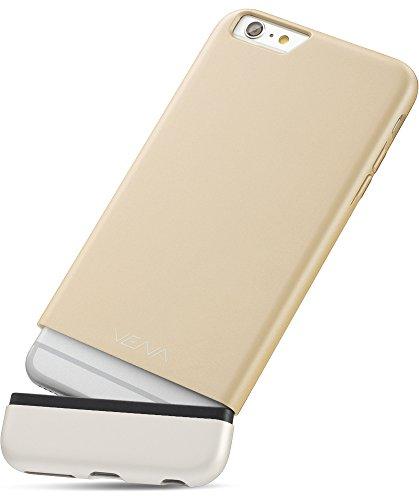 """Apple iPhone 6S 6 hülle, Vena (iSlide) [Dockingstation Freundlich] Schlank Passen Hart PolyCarbonate Case Schutzhülle für Apple iPhone 6 / 6S (4.7"""") (Champagne-Gold / Weiß) Champagne-Gold / Weiß"""