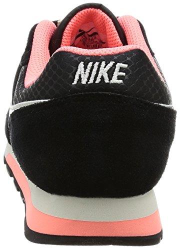 Nike Wmns Nike Md Runner 2, Scarpe da Ginnastica Donna Nero (Black / Sail / Lava Glow)