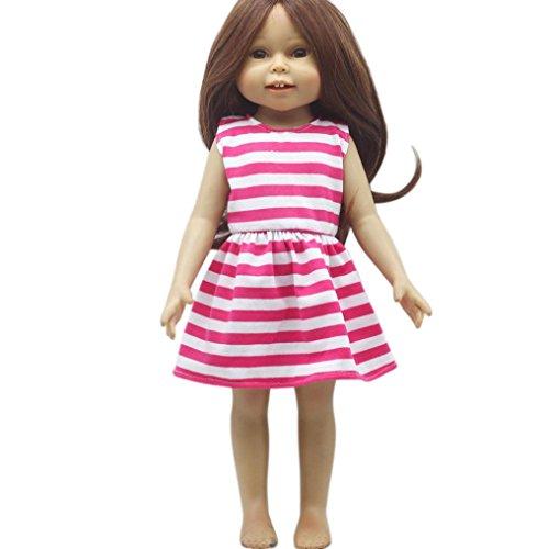 Kleid Hübsches Kleid passt Outfit für 18-Zoll-American Girl Doll (C) ()