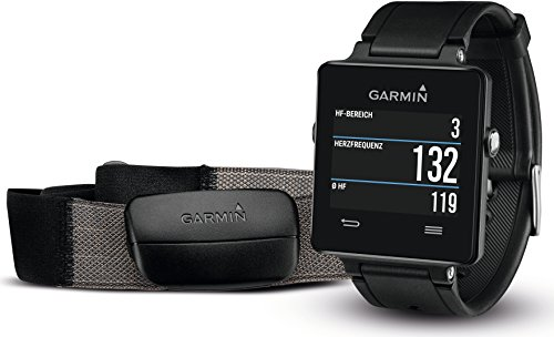 Garmin Vivoactive GPS Smart Watch With Heart Rate Monitor Black