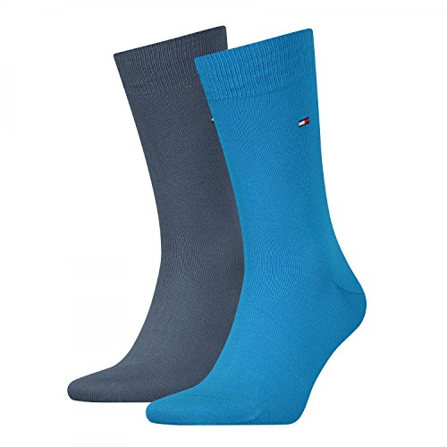 Tommy Hilfiger Herren Th Men Sock Classic 2er Pack Blau (Blue Combo 168)