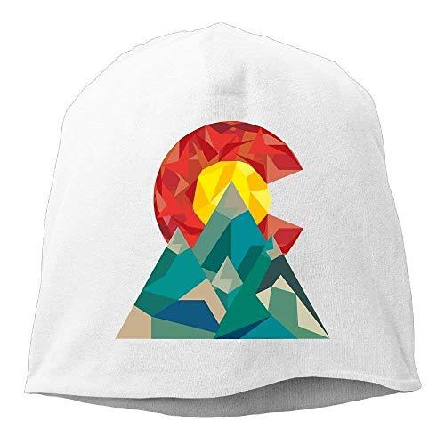 JIEKEIO Funny Baseball Caps Hats Colorado Geo Unisex Stretch Beanie Skull Cap Knit Hat for Men Women Winter Hat