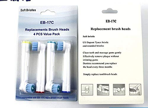 Vitality Power Zahnbürste (KRIDNSJK Elektrische Zahnbürste 8Pcs/2 Pack Brush Heads Five Type for Electric Toothbrush Fit Advance Power/Vitality Precision Clean,8Pcs/2 Pack Brush Heads Five Type for Electric to)