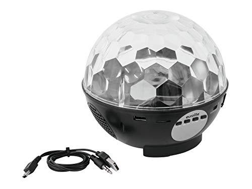 Lithium-ionen-radio (AKKU LED BC-9 Strahleneffekt MP3 + FM Radio | LED-Strahleneffekt mit Spiegelkugeleffekt | Micro-SD-Kartensteckplatz | Lithium-Ionen-Akku mit bis zu 6 Stunden Betriebszeit | 2x3-W-Lautsprecher)
