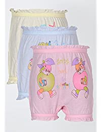 Bodycare Kids Cotton Bloomer (Pack of 3, Assorted Colour)