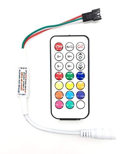 Tesfish 5V-24V RF Fernbedienung Kontrolleur 366 Arten von Änderungen RGB LED Controller für WS2811 WS2812 WS2812B LED Streifen Licht (Punkt, Rf-fernbedienung)