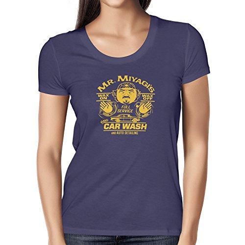 TEXLAB - Mr. Miyagi's Car Wash - Damen T-Shirt Navy