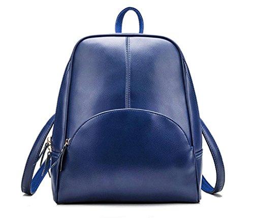 Xie (mode Sac à bandoulière en cuir Sacs à main coréen Trend de loisir Sac à dos femelle de voyage Wild Package (Rouge, Noir, Bleu, Rose, Kaki), bleu