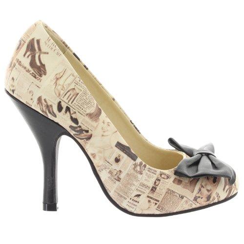 T.U.K., Scarpe col tacco donna Beige beige Avorio (beige)