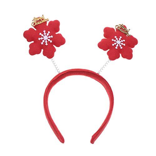 Amosfun Haarband für Kinder, weihnachtliches Kopf, für Cosplay, Kostüm, Party, Kopfschmuck, Nicht gewebt, Picture 1, Snowflake Pattern (Kinder Snowflake Kostüm)