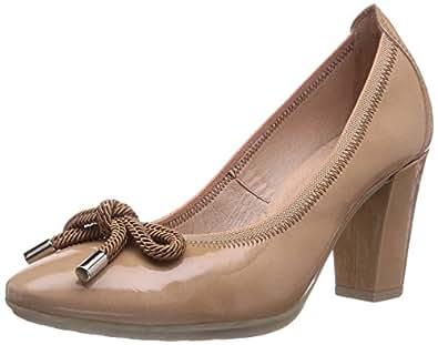 Hispanitas  PIMIENTA, Chaussures à talons - Avant du pieds couvert femme - Marron - Braun (Kaffir Camel), 42 EU