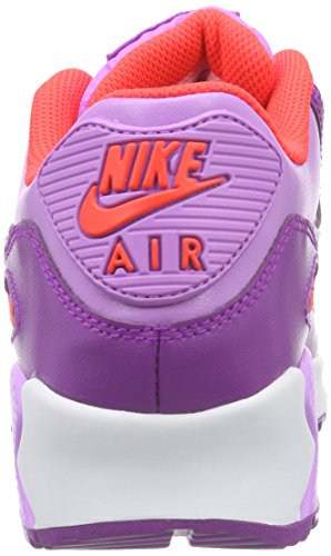 Nike Air Max 90 Ltr (Gs) Mädchen Low-Top Pink (Fuchasia Glow/White-Vivid Purple)