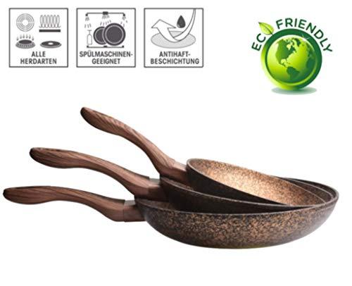 FRX 3 TLG. Pfannenset mit Antihaft Beschichtung Bratpfannen Bratpfannenset Keramik Pfanne Set...