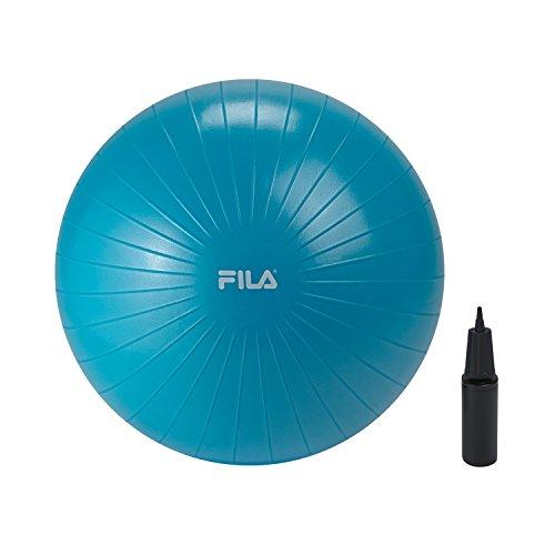 FILA Zubehör Stabilitätsball mit Pumpe, blau, 55cm (Stability Ball Chair)
