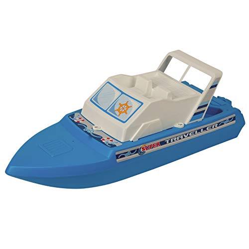 Motoryacht Wasserspielzeug Boot 40 cm Spielzeug Kinder Jungen Wasser Sommerspielzeug Strandboot Badewannenspielzeug Baby Pool Schiff robust Motorboot einfach Badespielzeug ()