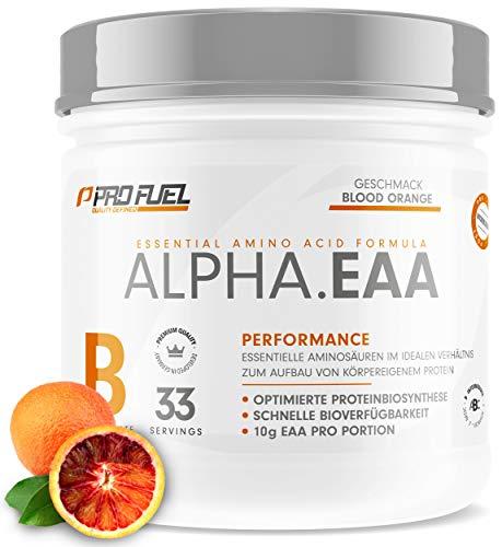 ALPHA.EAA   Premium EAA Pulver   Alle 8 essentiellen Aminosäuren   Erfrischend & Leicht   Top Löslichkeit und sensationeller Geschmack   462g - BLOOD ORANGE (Blutorange)