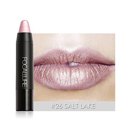 Lippenstift,EUZeo Matten Lippenstift Stift wasserdicht dauert 8 Farbe Optional Lip Makeup Wasserdichte Long Lasting Moisturizing Lippenstift Lip Gloss (26)