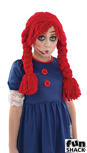 Rag Doll - Halloween - Kinder-Kostüm - Klein - 112cm - Alter 4-6 (Doll Kostüm-kind Rag)