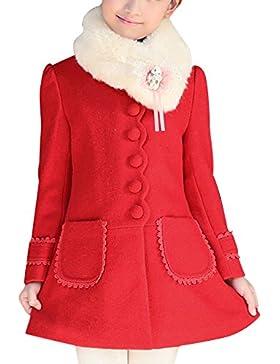 LSERVER-Lserver cappotto Ragazza di inverno giacca a vento di lana del cappotto di trincea del rivestimento di...