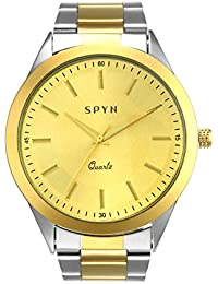 SPYN IP Gold Plated Analogue Men's Watch