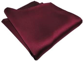 schönes gewebtes TigerTie Designer Satin Seideneinstecktuch in dunkelrot Uni einfarbig - Pochette 30 x 30 cm - Einstecktuch 100% reine Seide