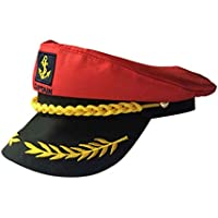 3e00aadabdcd6 Amosfun Gorra del capitán Yate Ajustable Gorra del capitán Sailors Gorra de  mar Sombrero Azul Marino