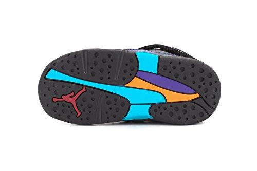 Jordan Nike Hydro 2 (ps) Diapositives Sandals noir / rose vif-3 BLCK/TR RD-FLNT GRY-BRGHT CNCR